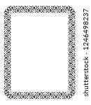 calligraphy ornamental... | Shutterstock . vector #1246498237
