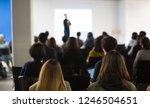 seminar audience in training... | Shutterstock . vector #1246504651