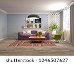 interior of the living room. 3d ... | Shutterstock . vector #1246507627