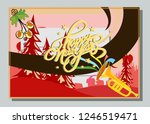 happy new year greeting card... | Shutterstock .eps vector #1246519471