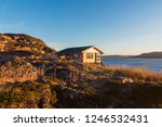 wooden house for relaxation... | Shutterstock . vector #1246532431