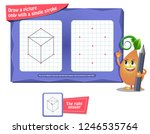 visual educational game for... | Shutterstock .eps vector #1246535764