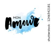 mon amour postcard. my love in... | Shutterstock .eps vector #1246542181