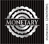 monetary silvery shiny emblem | Shutterstock .eps vector #1246545841
