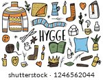 hygge collection. danish living ... | Shutterstock .eps vector #1246562044