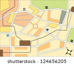 simple city map with rail road... | Shutterstock .eps vector #124656205