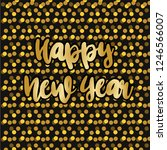 happy new year. holiday vector... | Shutterstock .eps vector #1246566007