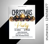 luxury christmas balls flyer... | Shutterstock .eps vector #1246568377