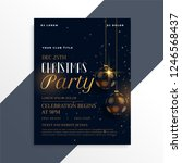 luxury dark christmas party... | Shutterstock .eps vector #1246568437