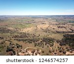 Aerial view of the regional country city of Bathurst from Mount Panorama home of Australia most famous motor car race. Bathurst is located in the central west region of NSW.