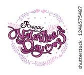 happy valentine's day vector... | Shutterstock .eps vector #1246575487