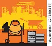 concrete mixer  construction... | Shutterstock .eps vector #1246586554