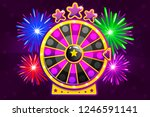 purple wheel of fortune and...