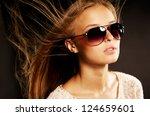 portrait of beautiful sexy...   Shutterstock . vector #124659601