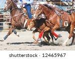 Cowboy Competing In Steer...
