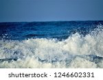 stormy windy waves on... | Shutterstock . vector #1246602331