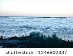 stormy windy waves on... | Shutterstock . vector #1246602337