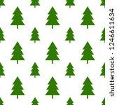 seamless green christmas tree...   Shutterstock .eps vector #1246611634