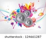 abstract musical background...   Shutterstock . vector #124661287
