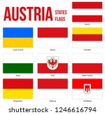 austria all states flags vector ... | Shutterstock .eps vector #1246616794