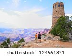 Grand Canyon People Hiking....