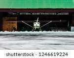 small private plane parked in... | Shutterstock . vector #1246619224