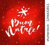 buon natale  merry christmas...   Shutterstock .eps vector #1246632811