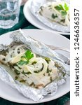cod baked in herbs and onions...