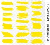 yellow watercolor hand drawn... | Shutterstock .eps vector #1246639147