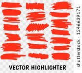 vector highlighter brush set.... | Shutterstock .eps vector #1246639171