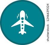 plane glyph round circle multi... | Shutterstock .eps vector #1246639324