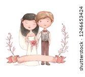 getting married happy newlywed... | Shutterstock . vector #1246653424