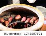 yams burn  sweet potato in jar... | Shutterstock . vector #1246657921