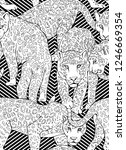 seamless pattern with a wild... | Shutterstock .eps vector #1246669354