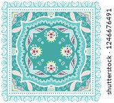 decorative colorful ornament on ... | Shutterstock .eps vector #1246676491