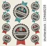 anniversary sign collection and ... | Shutterstock .eps vector #124668235