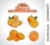 orange. hand drawn collection... | Shutterstock .eps vector #1246684297