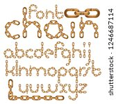 vector font  trendy typescript... | Shutterstock .eps vector #1246687114