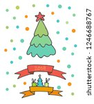 doodle christmas elements. hand ... | Shutterstock .eps vector #1246688767