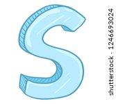 vector single cartoon... | Shutterstock .eps vector #1246693024