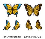 Stock vector set of butterfly vector 1246695721