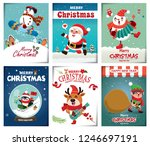 vintage christmas poster design ... | Shutterstock .eps vector #1246697191