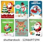vintage christmas poster design ... | Shutterstock .eps vector #1246697194