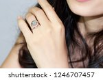 fashion sterling silver ring... | Shutterstock . vector #1246707457