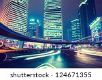 night scene of modern city | Shutterstock . vector #124671355