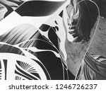 abstract black and white waves  ... | Shutterstock . vector #1246726237