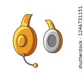 icon yellow headphone with... | Shutterstock .eps vector #1246731151