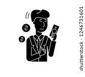 rich man black icon  vector... | Shutterstock .eps vector #1246731601