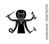 multitasking black icon  vector ... | Shutterstock .eps vector #1246731754