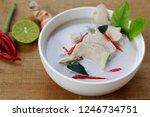 Stock photo thai chicken coconut soup tom kha gai 1246734751